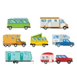 set of different campers vector image