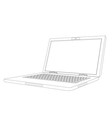 Curve laptop vector image vector image