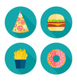 Fastfood icons vector image