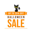 halloween sale style with cat vector image