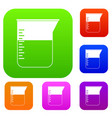 measuring cup set color collection vector image