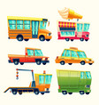 public and urban passenger transport vector image