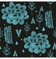 Seamless pattern with abstract nature elements vector image