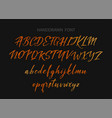 typography alphabet for your designs logo vector image