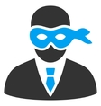 Masked Thief Flat Icon vector image