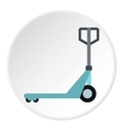 Hand truck icon flat style vector image