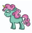 Cartoon cute unicorn design for kids vector image