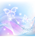 Transparent butterfly and stars vector image vector image