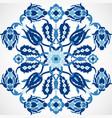 arabesque vintage damask floral decoration lace vector image