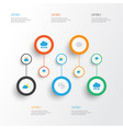 air flat icons set collection of storm vector image
