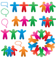 human and speech symbols vector image