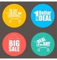 Flat design sale discount background vector image
