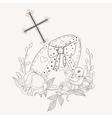big Easter egg vector image vector image
