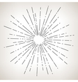 Sun Burst Retro Style vector image vector image