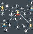 Modern web media network scheme vector image vector image