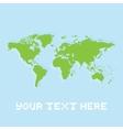 Pixel art planet earth card vector image