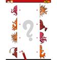 educational task for kids vector image