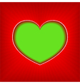 background with green heart vector image