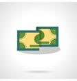 Money bill flat color icon vector image