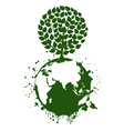 Tree a planet vector image vector image