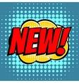New comic book bubble text retro style vector image vector image