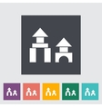 Building block icon vector image