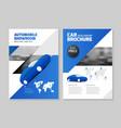 car dealership automobile showroom leaflet vector image