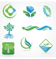 eco icons - logos vector image