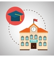 Flat about back to school design vector image