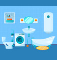modern clean interior of bathroom pictures vector image