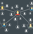 Modern web media network scheme vector image