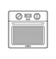 outline kitchen oven vector image