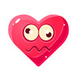 dizzy emoji pink heart emotional facial vector image
