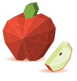 paper apple vector image vector image