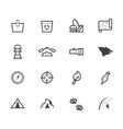 camp black icon set on white background vector image vector image