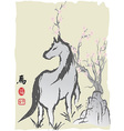 horse year chinese painting vector image vector image