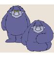 cartoon character shaggy beast vector image vector image