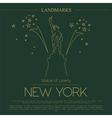 World landmarks New York USA Statue of Liberty vector image