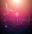 Seamless Floral Wallpaper with Sunshine vector image