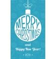 Vintage christmas card Flat design vector image