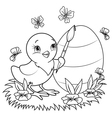 Easter Chicken vector image vector image