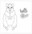 Hand drawn animal quokka doodle vector image