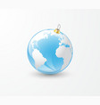christmas tree toy earth globe vector image