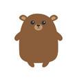 grizzly brown bear cute cartoon funny kawaii vector image