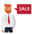 man says sale cartoon flat vector image