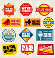 now hiring employer promotion at work vector image
