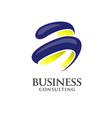 spin logo letter b number 3 logo vector image