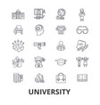 university science students education vector image