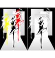 Set Fashion show vector image