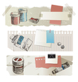 paint tools banners vector image vector image